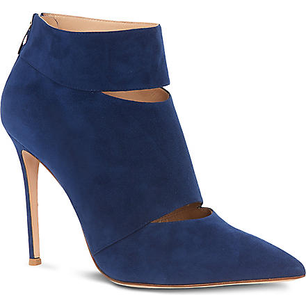 GIANVITO ROSSI Abruzzo suede ankle boots (Navy