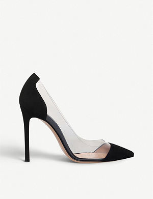 GIANVITO ROSSI Calabria suede and PVC pumps