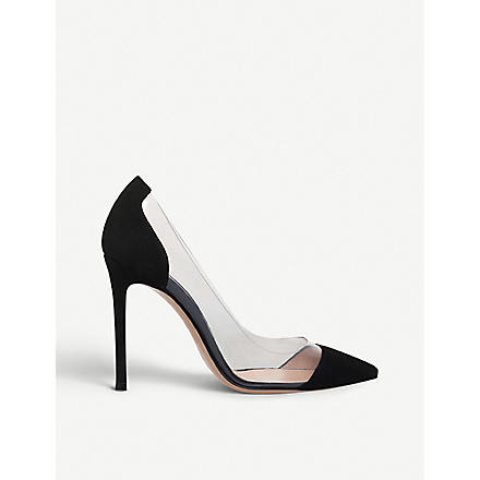 GIANVITO ROSSI Calabria suede and PVC pumps (Black