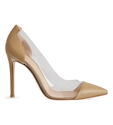 GIANVITO ROSSI Calabria leather courts (Nude