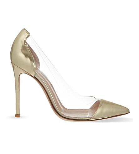 GIANVITO ROSSI Calabria stilettos (Gold