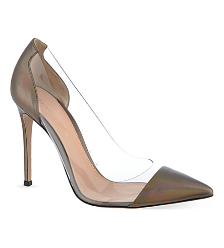 GIANVITO ROSSI Calabria court shoes (Pewter