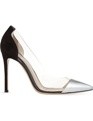 GIANVITO ROSSI Calabria suede and leather courts