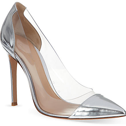 GIANVITO ROSSI Calabria court shoes (Silver