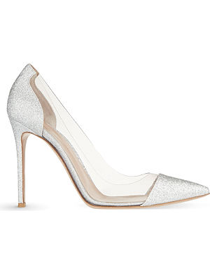 GIANVITO ROSSI Calabria glitter court shoes