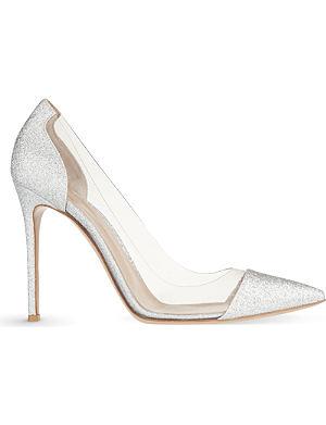 GIANVITO ROSSI Calabria glitter court shoes