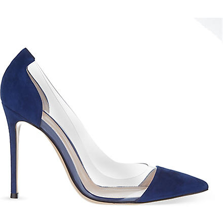 GIANVITO ROSSI Calabria court shoes (Navy