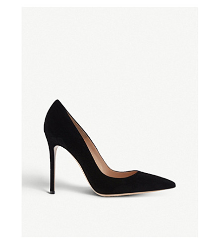 GIANVITO ROSSI Gianvito 105 suede courts (Black