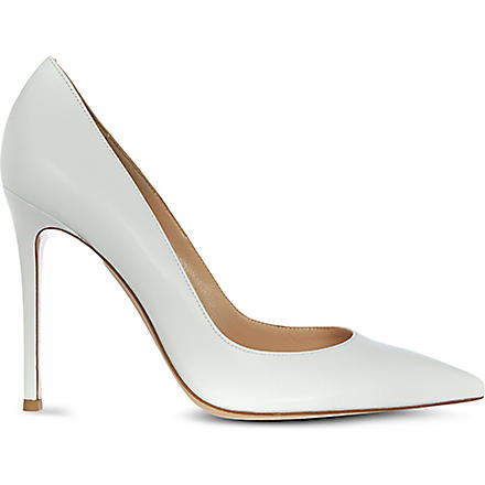 GIANVITO ROSSI Bari leather courts (White