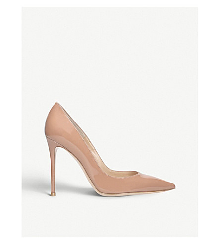 GIANVITO ROSSI Gianvito 105 patent-leather courts (Nude
