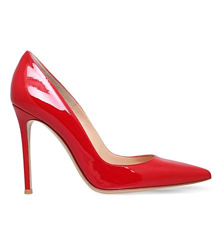 GIANVITO ROSSI Bari patent-leather courts (Red
