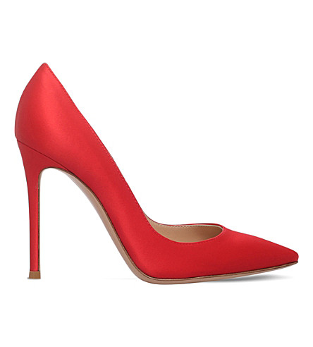 GIANVITO ROSSI Gianvito 105 satin courts (Red