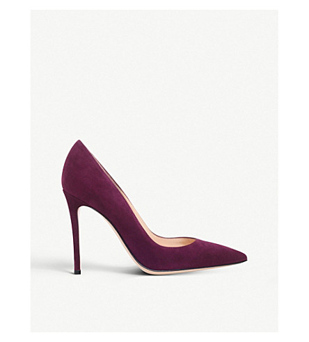 GIANVITO ROSSI Gianvito 105 suede courts (Wine