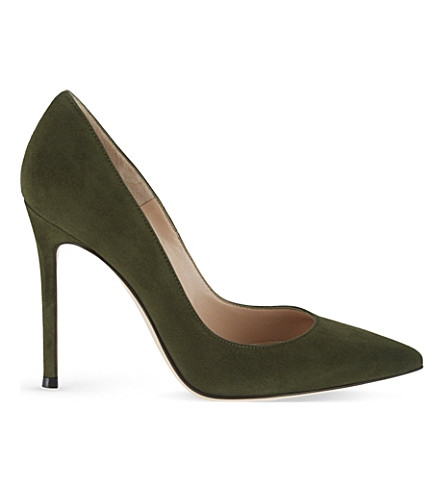 GIANVITO ROSSI Bari suede court shoes (Green