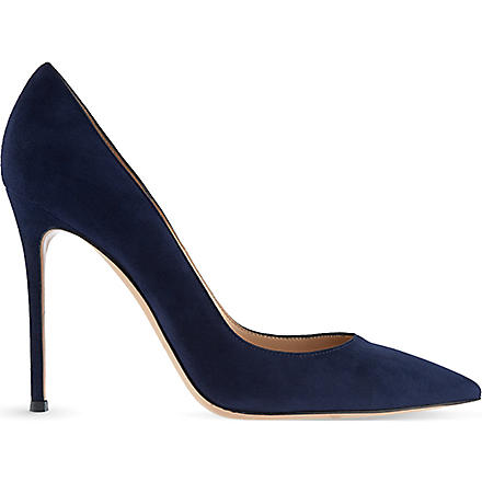 GIANVITO ROSSI Bari court shoes (Denim
