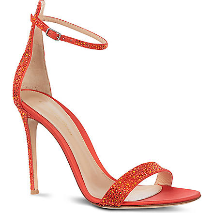 GIANVITO ROSSI Modena leather sandals (Red