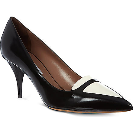 TABITHA SIMMONS Hayden leather court shoes (Blk/white