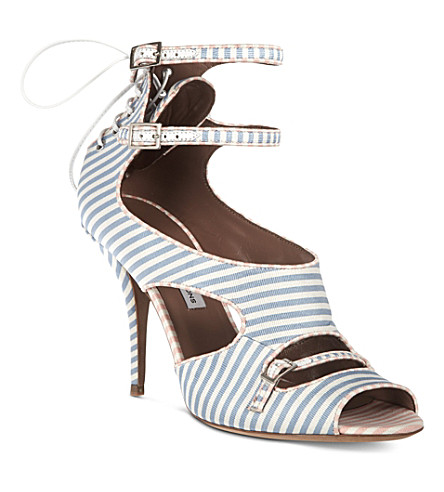 TABITHA SIMMONS Striped satin sandals