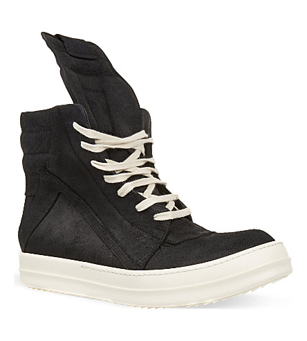 RICK OWENS Geobasket classic high-tops (Blk/white