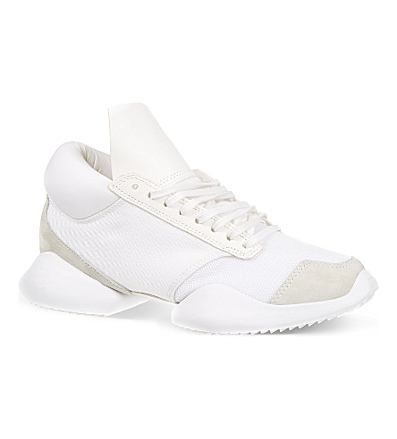 RICK OWENS Adidas runners (Black