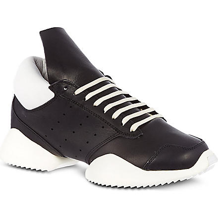 RICK OWENS Adidas Runners trainers (Blk/white