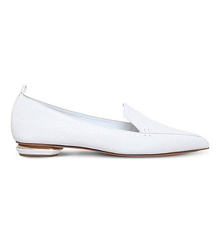 NICHOLAS KIRKWOOD Pointy leather slippers (White