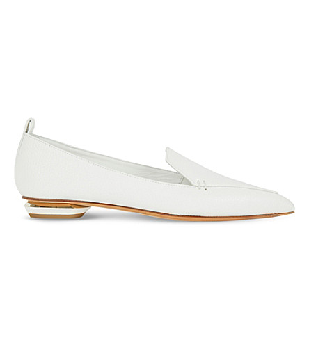NICHOLAS KIRKWOOD Beya leather slippers (White/oth