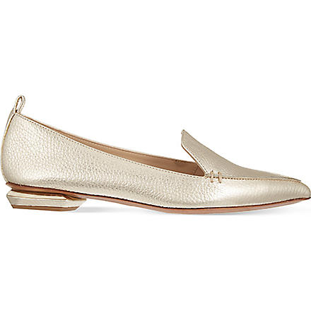 NICHOLAS KIRKWOOD Pointy slippers (Gold