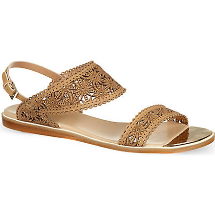 NICHOLAS KIRKWOOD Flower cut sandals (Beige