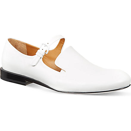 JIL SANDER High vamp strap slippers (White
