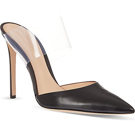 GIANVITO ROSSI Pointed toe court shoes (Black