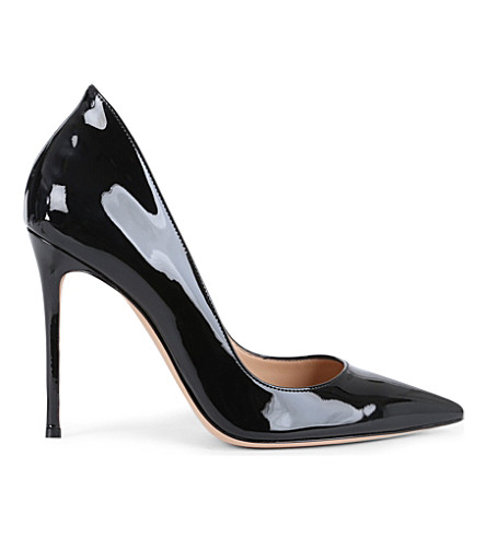 GIANVITO ROSSI Patent-leather stiletto courts (Black