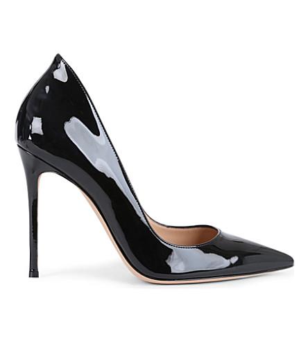 GIANVITO ROSSI Patent-leather stiletto courts (Black