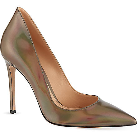 GIANVITO ROSSI Petrol court shoes (Pewter