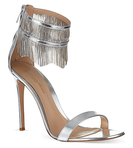 GIANVITO ROSSI Open toe sandals (Silver