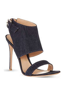 GIANVITO ROSSI Denim buckled sandals
