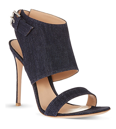 GIANVITO ROSSI Denim buckled sandals (Denim