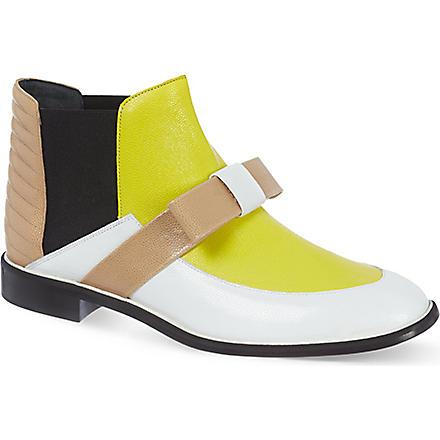 NICHOLAS KIRKWOOD Roksanda leather boots (White/oth