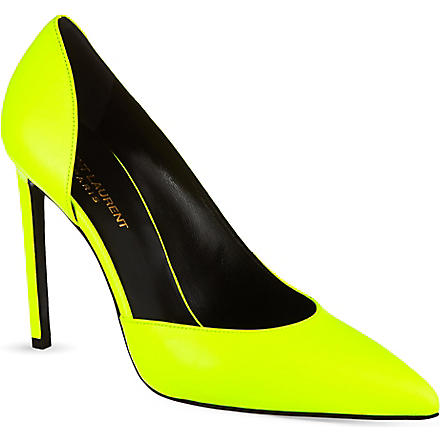 SAINT LAURENT Paris pumps 105 (Yellow