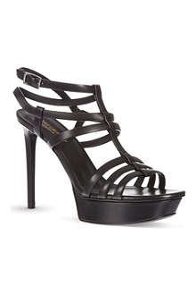 SAINT LAURENT Bianca caged heeled sandals