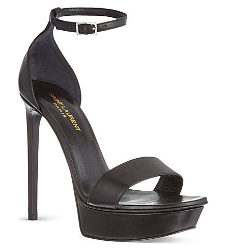 SAINT LAURENT Bianca platform sandals (Black