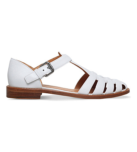 CHURCH Kelsey leather sandals (White