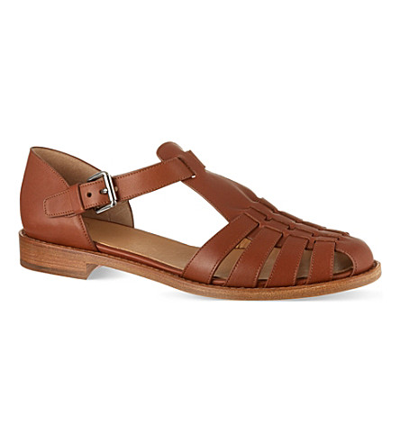 CHURCH Kelsey leather sandals (Brown