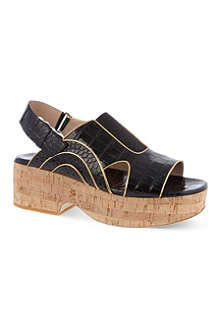 DRIES VAN NOTEN Haricot platform sandals