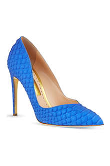 RUPERT SANDERSON Ives snakeskin court shoes