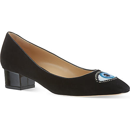 CHARLOTTE OLYMPIA Eyes For You court shoes (Black