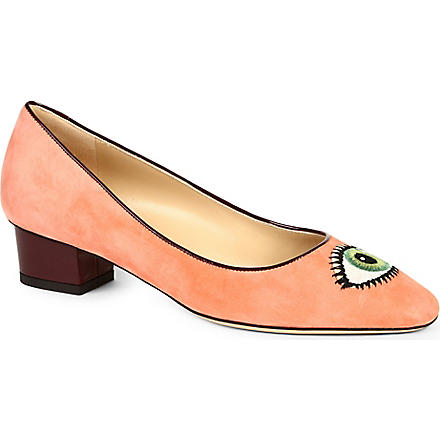 CHARLOTTE OLYMPIA Eyes For You court shoes (Peach