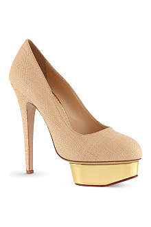 CHARLOTTE OLYMPIA Dolly raffia courts