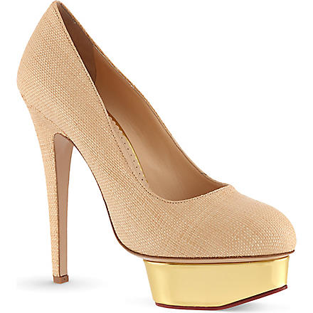 CHARLOTTE OLYMPIA Dolly raffia courts (Beige