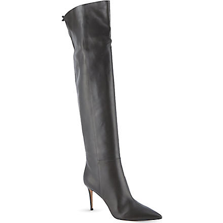 GIANVITO ROSSI Ellie over-knee boots (Grey